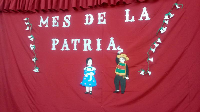 Escuela Luis Acevedo tuvo su acto principal de fiestas patrias
